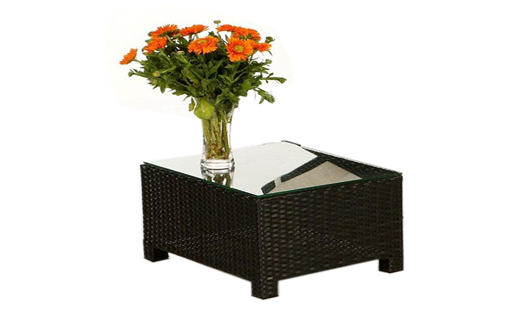 beistelltisch passend zur rattan liege florentina black. Black Bedroom Furniture Sets. Home Design Ideas