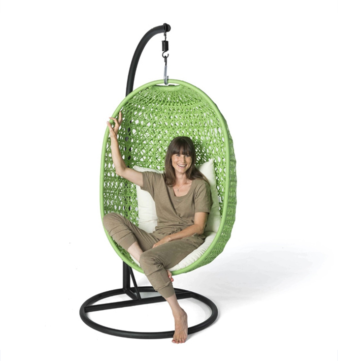 Rattan Hanging Chair grün Rattan Lounge, Gartenmöbel Lounge ...