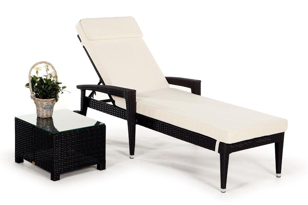 beistelltisch passend zur rattan liege florentina brown. Black Bedroom Furniture Sets. Home Design Ideas