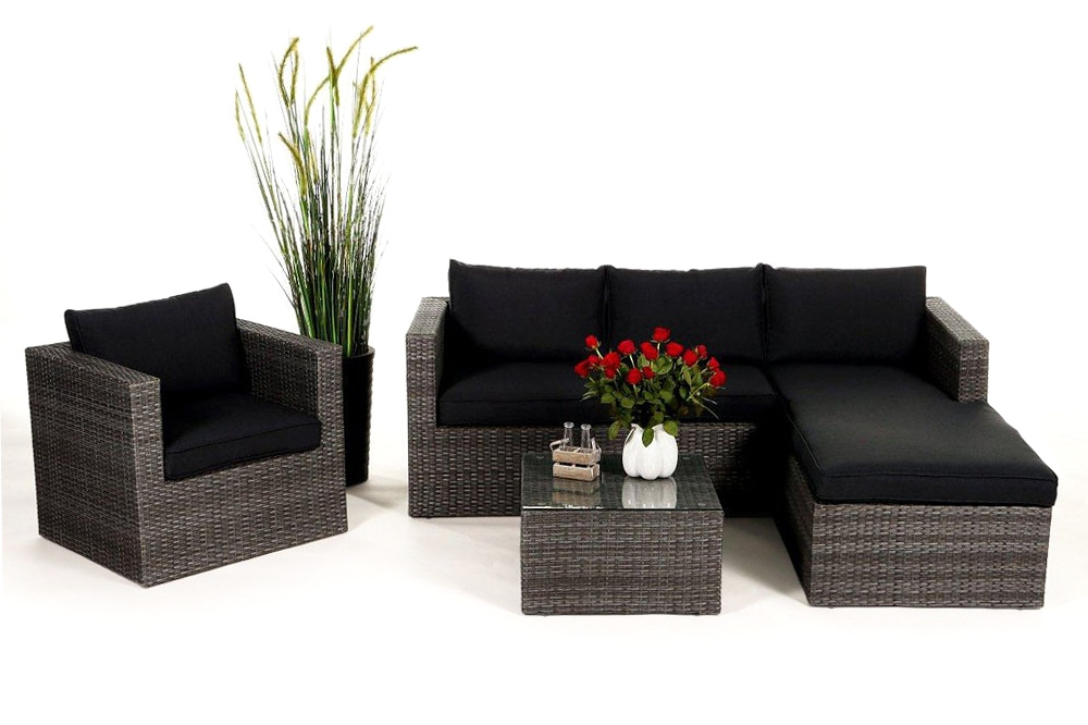 rattan lounge gartenm bel rattan gartenm bel kunststoffgeflecht. Black Bedroom Furniture Sets. Home Design Ideas