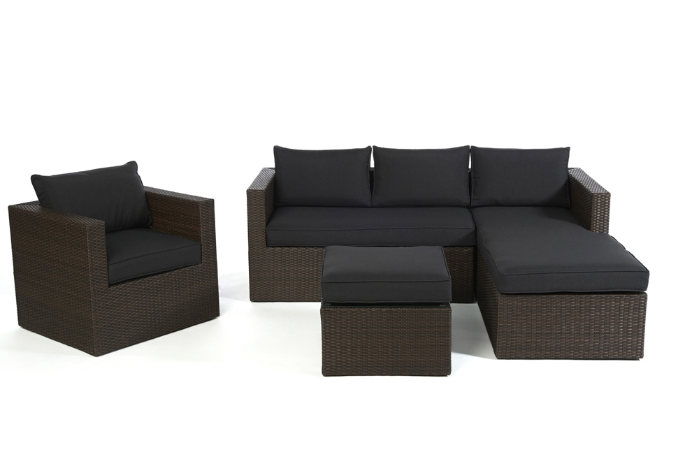 polster f r loungetisch passend zur rattan lounge galicia brown. Black Bedroom Furniture Sets. Home Design Ideas