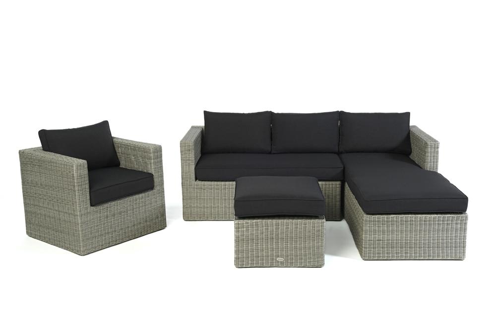 polster f r loungetisch passend zur rattan lounge galicia grey round. Black Bedroom Furniture Sets. Home Design Ideas