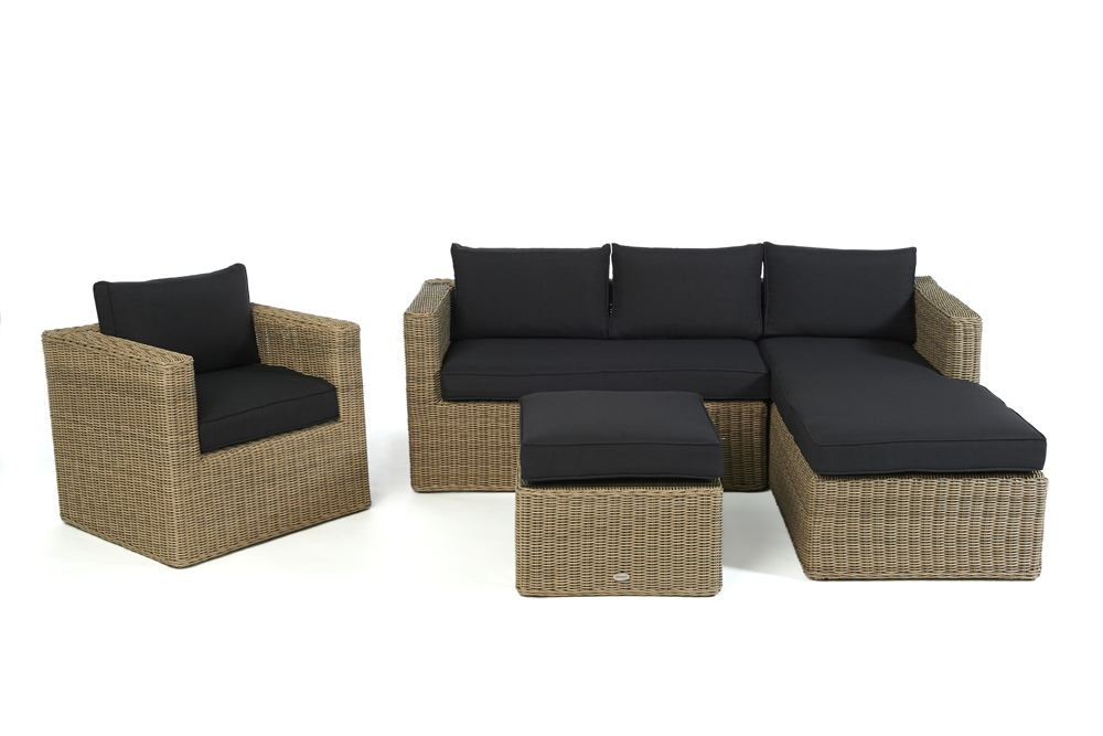 polster f r loungetisch passend zur rattan lounge galicia natural round. Black Bedroom Furniture Sets. Home Design Ideas