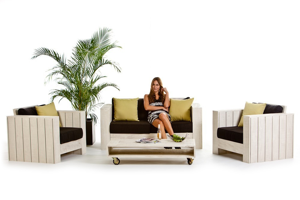 holz lounge gartenm bel lizard old white holz lounge. Black Bedroom Furniture Sets. Home Design Ideas