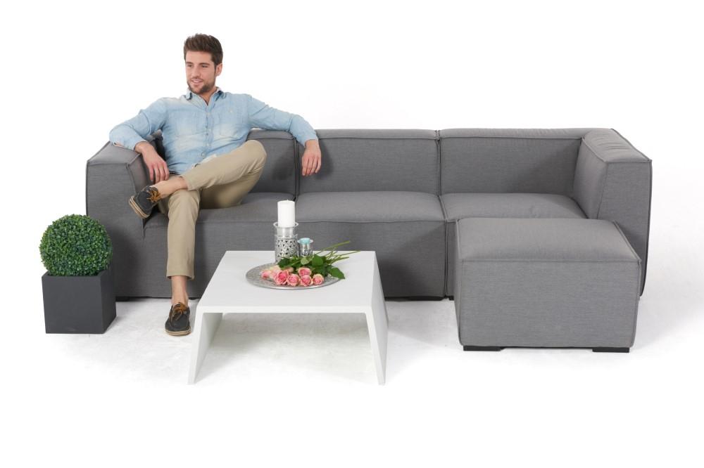 gartenmoebel wetterfeste polster wasserfeste gartenlounge xavier grau. Black Bedroom Furniture Sets. Home Design Ideas