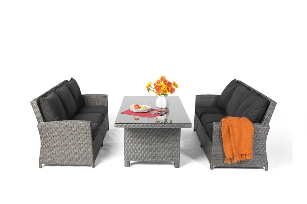 Rattan Tisch Set, Lounge DIning, Gartenmöbel, Rattan Gartenmöbel ...