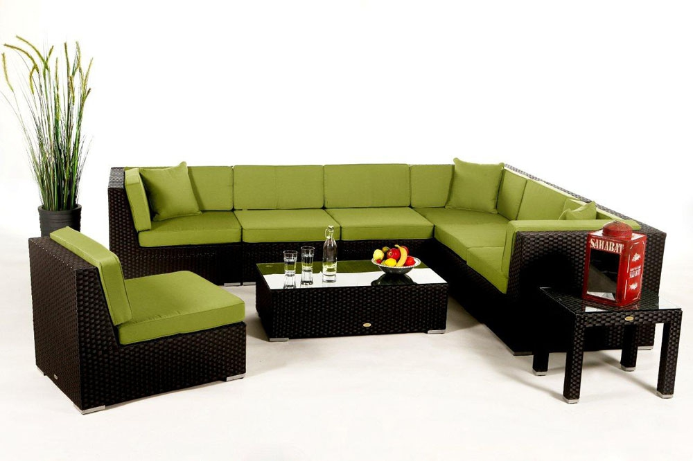 Polsterbezug passend zur Rattan Lounge Panama - Farbe Grün
