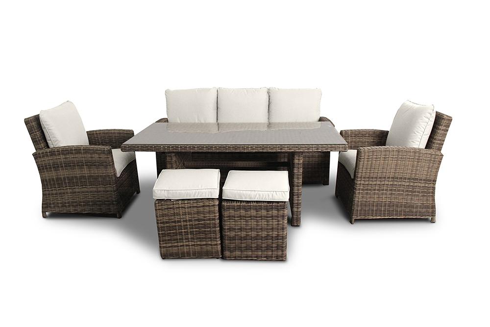 Polsterbezug passend zum Rattan Lounge Gartenmöbel Mandarin - Farbe ...