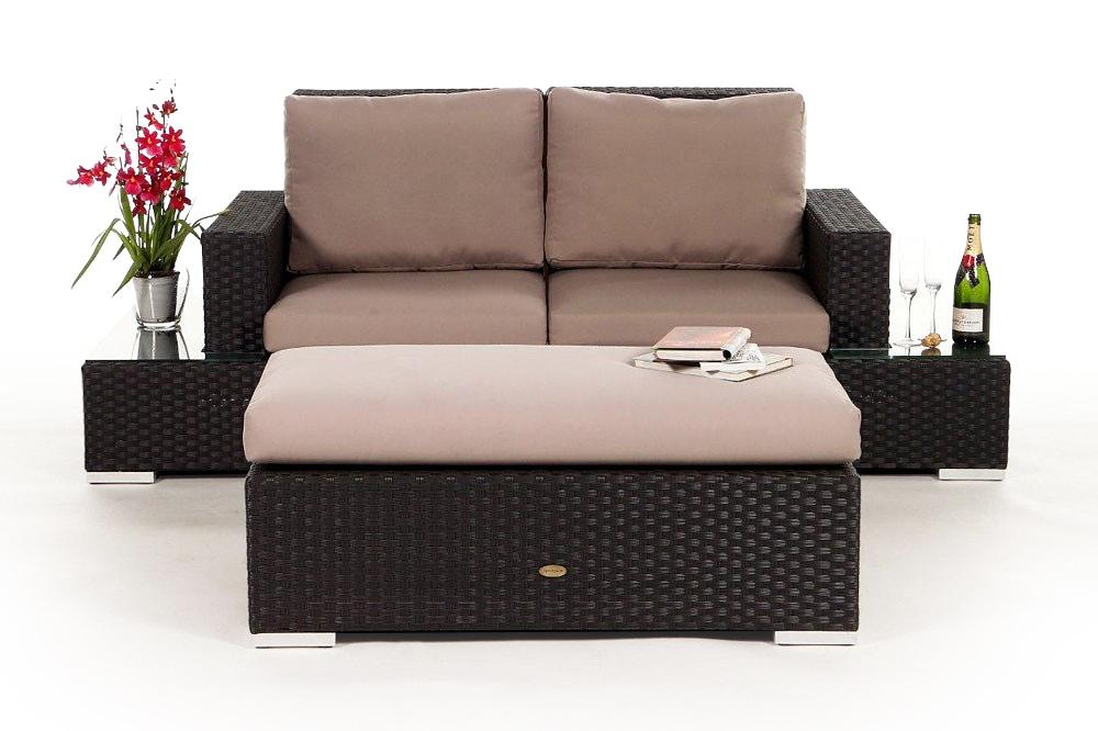 rattan lounge gartenm bel rattan gartenm bel kunststoffgeflecht mezza luna braun. Black Bedroom Furniture Sets. Home Design Ideas