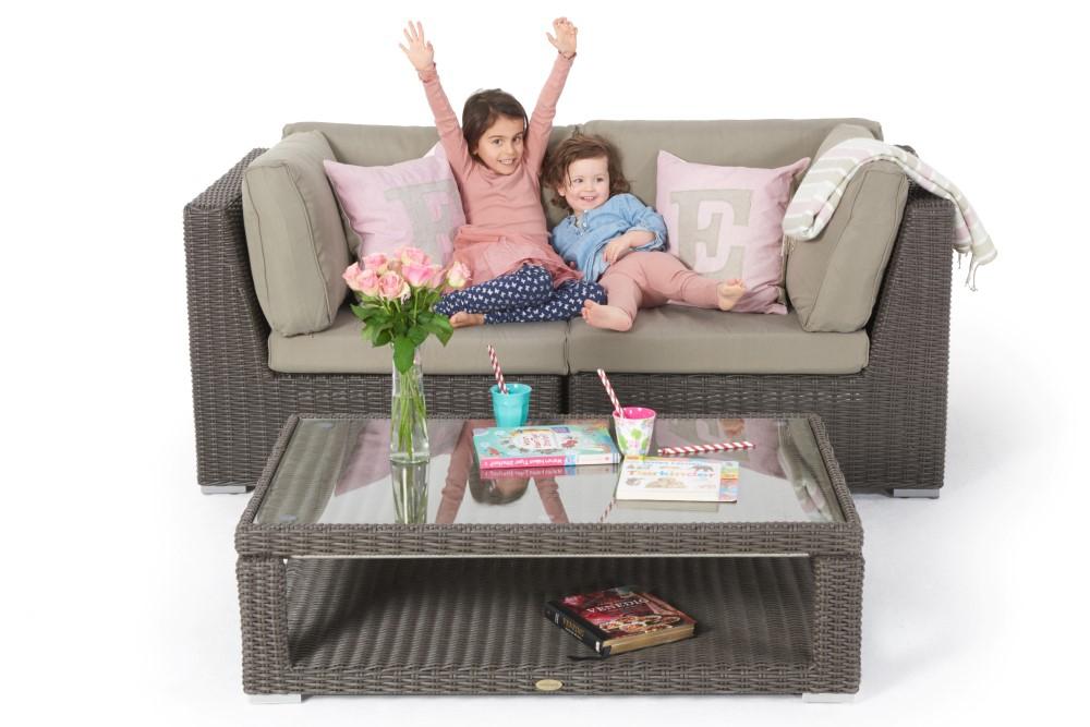gartenlounge mit esstisch sch ne rattanm bel f r den. Black Bedroom Furniture Sets. Home Design Ideas