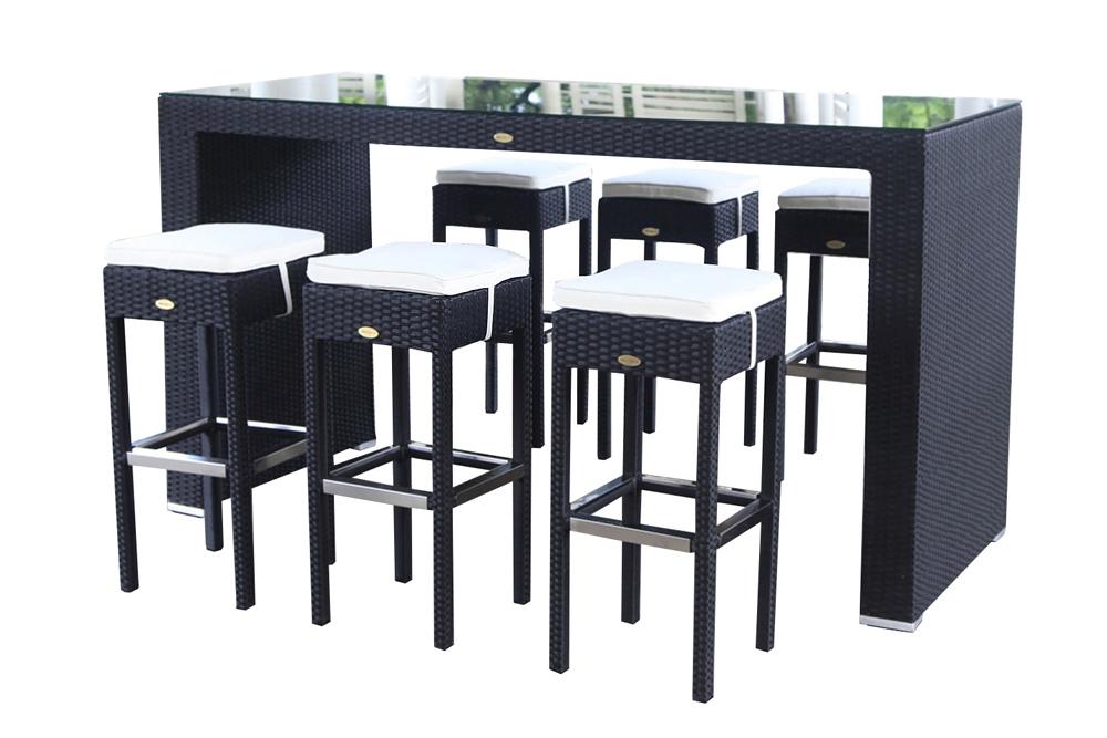 Rattan Bar Quinn Mit 6 Stühlen ...