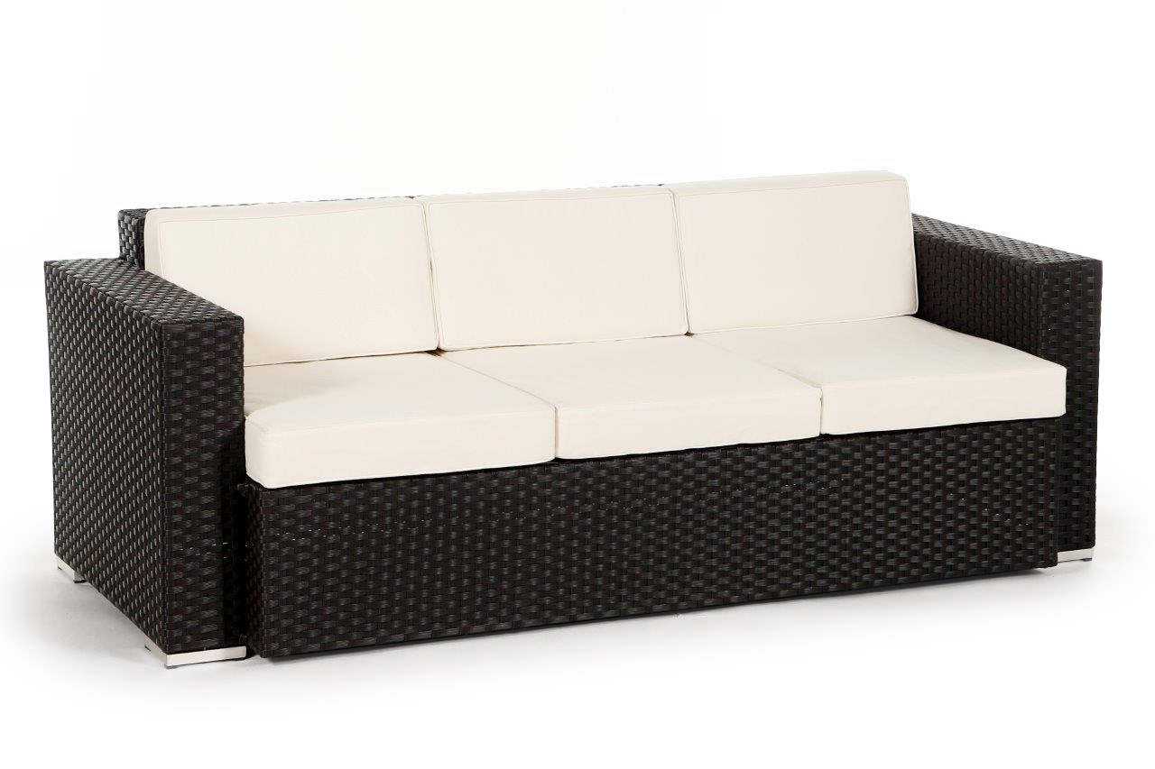 3er sofa zur erweiterung der california rattan lounge. Black Bedroom Furniture Sets. Home Design Ideas