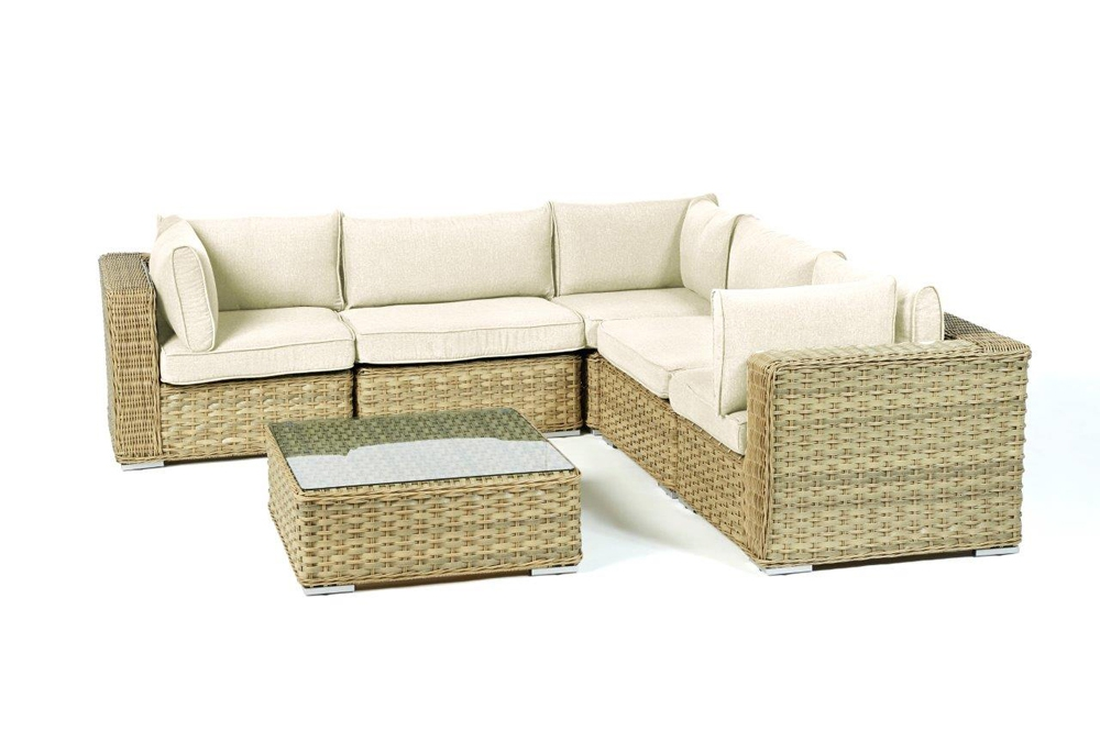 polsterbezug passend zu rattan lounge square berzugsset in beige. Black Bedroom Furniture Sets. Home Design Ideas