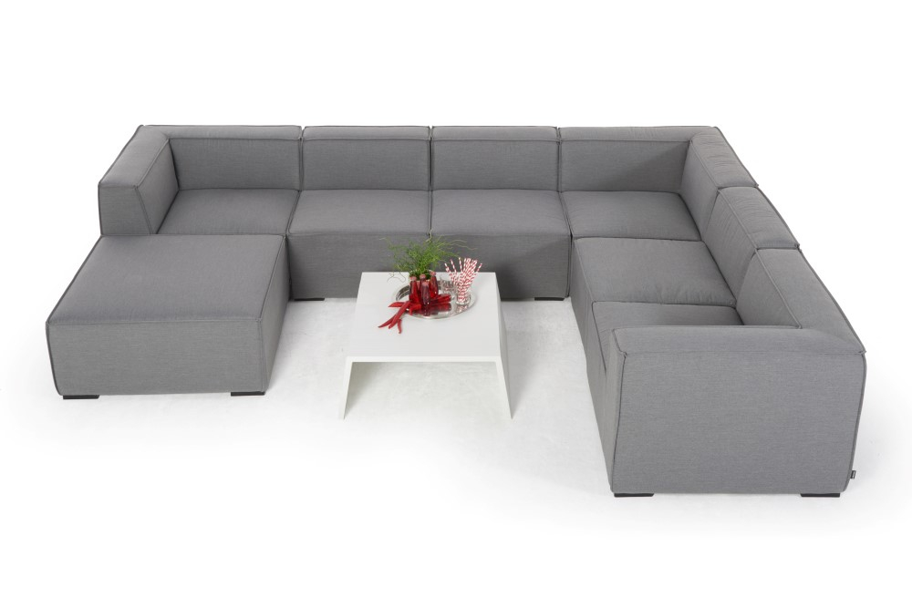 Cosima Outdoorstoff Lounge Grau