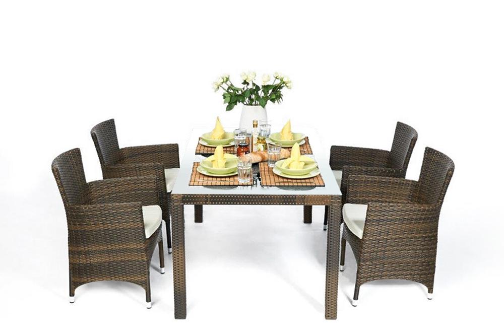 Rattanmöbel, Gartenmöbel, Rattan Tisch und Stühle, günstig