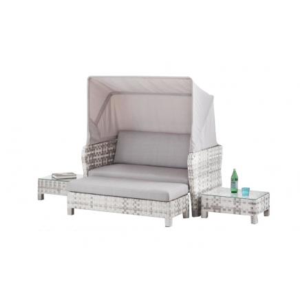 sunchair rattan liege grau lounge sonneninsel. Black Bedroom Furniture Sets. Home Design Ideas