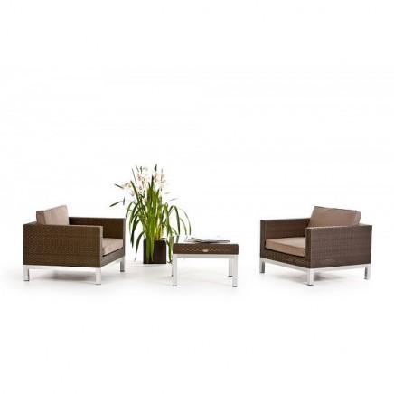 rattan gartenm bel belgrano rattan lounge gray brown. Black Bedroom Furniture Sets. Home Design Ideas