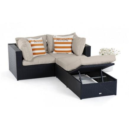 Rattan Lounge Santa Cruz natural round - Hochwertiges Gartenmöbel ...