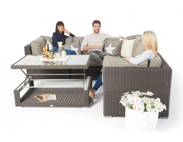 rattan gartenm bel g nstig kaufen rattan lounge rattan tisch h henverstellbar garten. Black Bedroom Furniture Sets. Home Design Ideas
