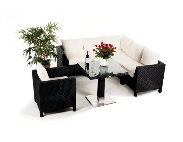 Das trendbewusste rattan tisch lounge set for Rattanmobel garten lounge