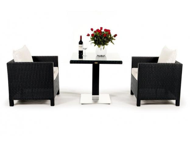 rattan lounge dining set die mischung aus esstisch und rattan lounge. Black Bedroom Furniture Sets. Home Design Ideas