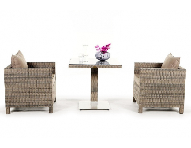 rattan lounge dining set die mischung aus esstisch und rattan lounge. Black Bedroom Furniture Sets. Home Design Ideas