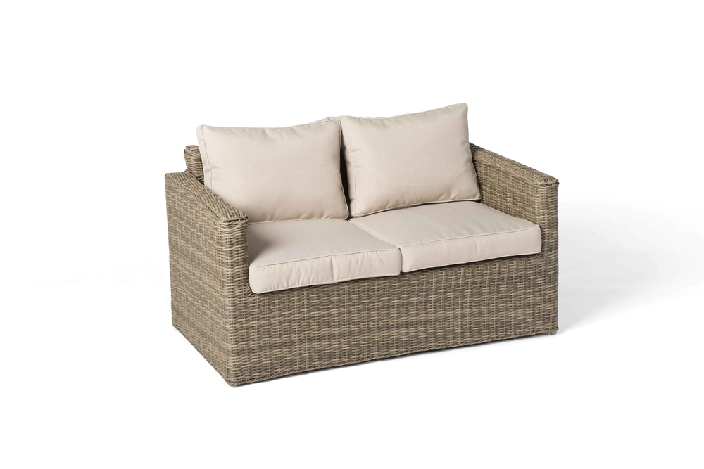 Rattan Lounge St. James natural round - Hochwertiges Gartenmöbel Set