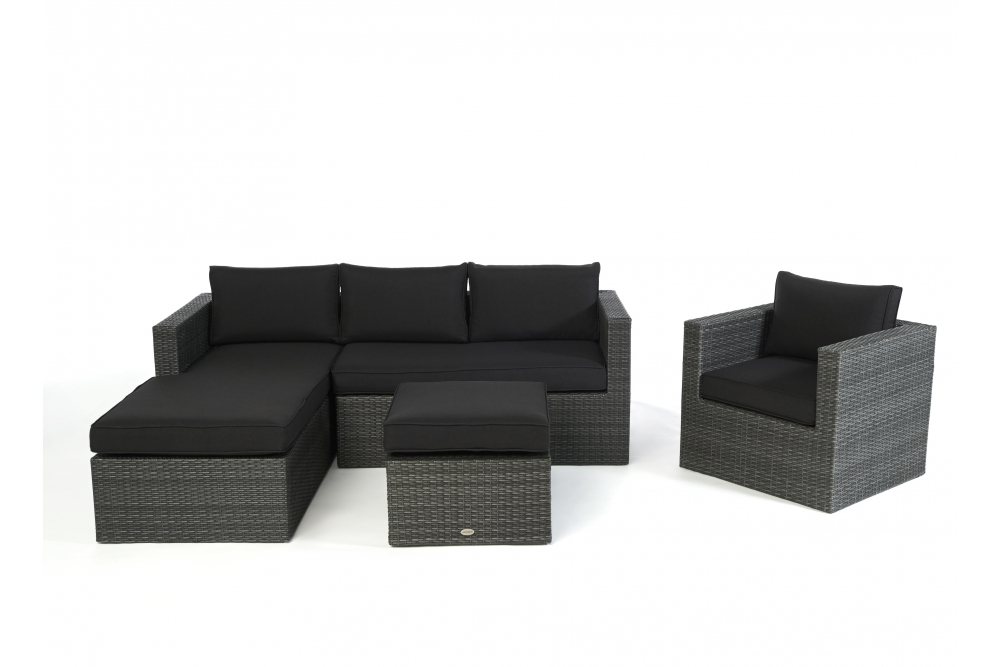polster f r loungetisch der rattan lounge galicia. Black Bedroom Furniture Sets. Home Design Ideas