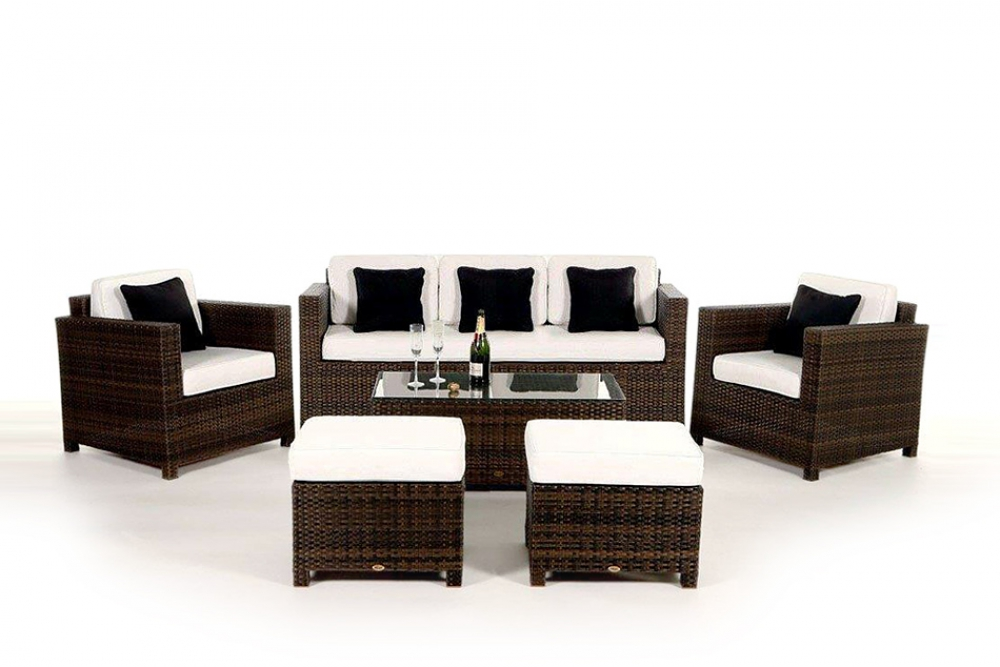 diamond 3er gartenlounge in der farbe brown. Black Bedroom Furniture Sets. Home Design Ideas