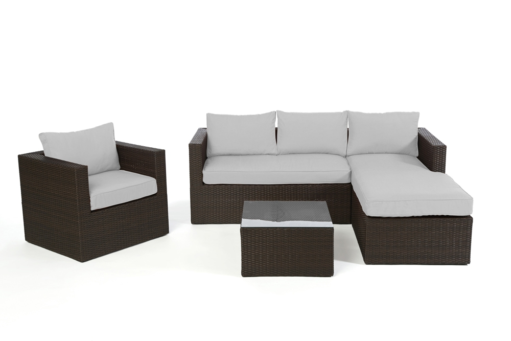 polsterbezug passend zu rattan lounge galicia berzugsset in grau. Black Bedroom Furniture Sets. Home Design Ideas