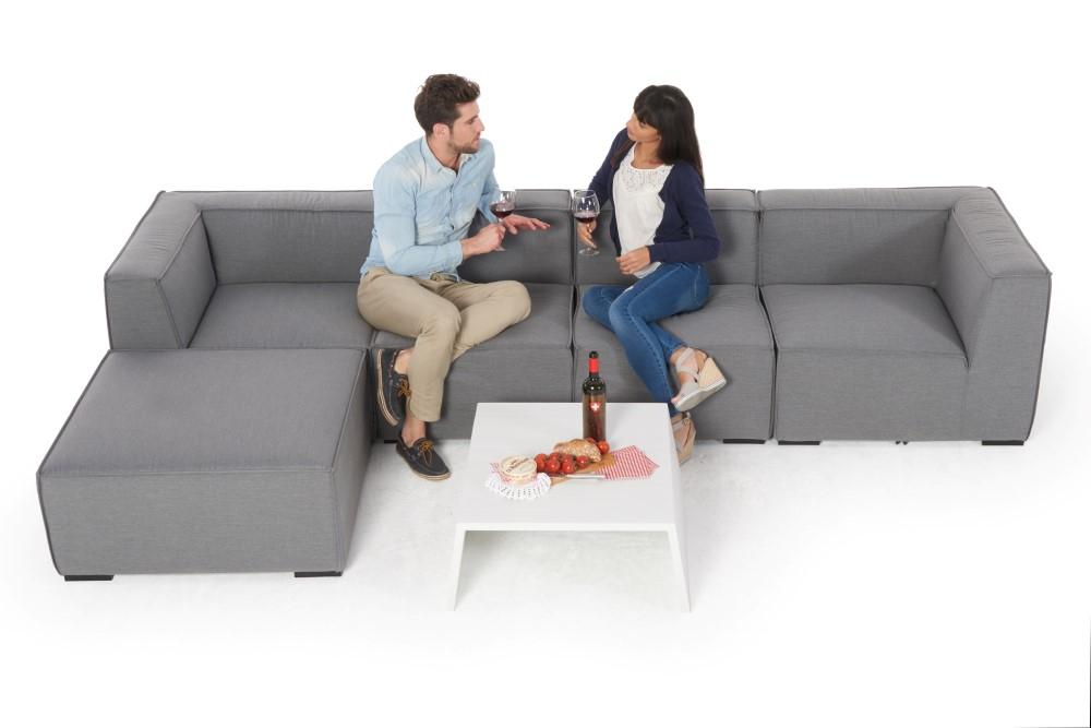 Loungemoebel Outdoorstoff Leonora Lounge Grau Moebel Für