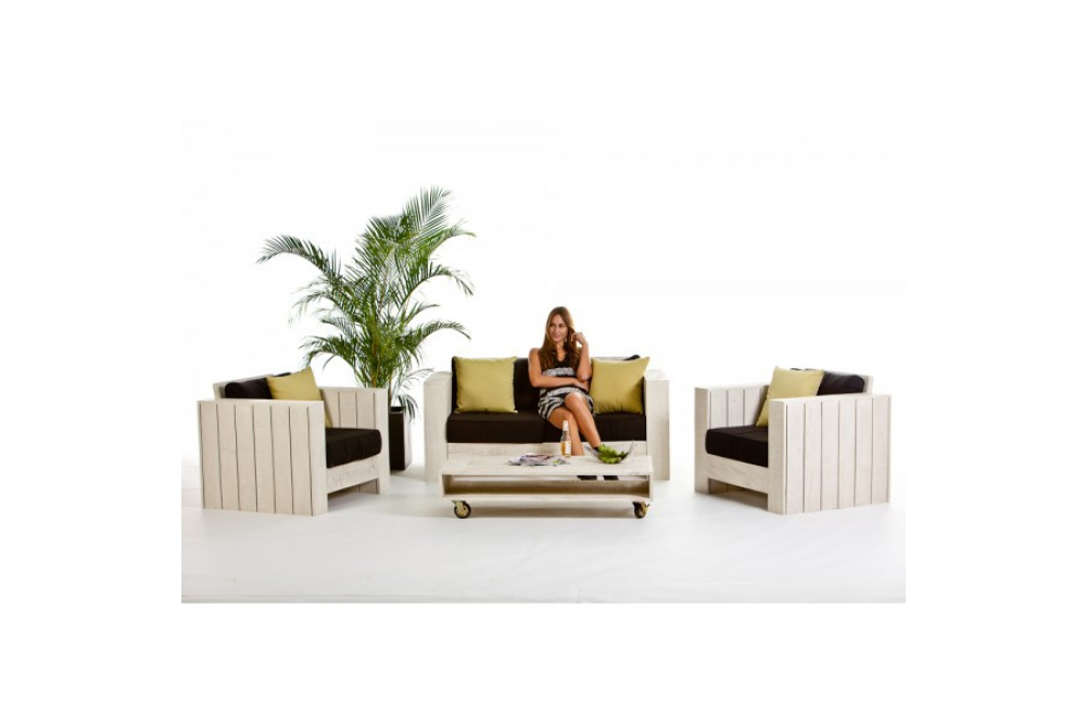 holz lounge gartenm bel lizard old white holz lounge online shop. Black Bedroom Furniture Sets. Home Design Ideas
