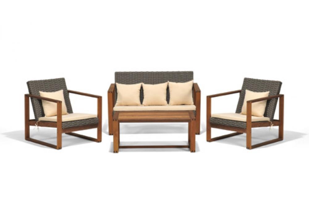 Holz Lounge, Gartenmöbel Lounge, Rattan Esstisch, Rattan Lounge Möbel