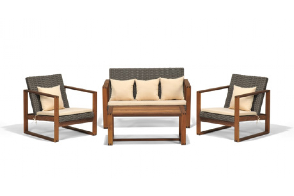 Gartenmöbel lounge holz  Holz Lounge, Gartenmöbel Lounge, Rattan Esstisch, Rattan Lounge Möbel