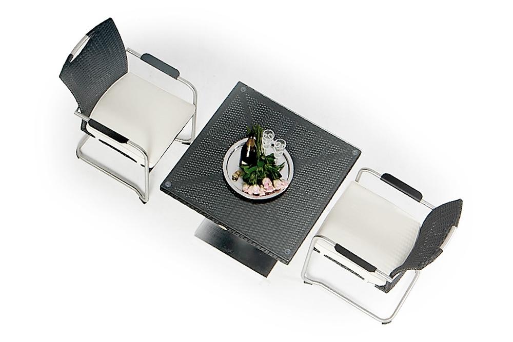 Rattan Tisch - Rattan Gartentisch - kleiner Tisch - Rattan Stühle ...