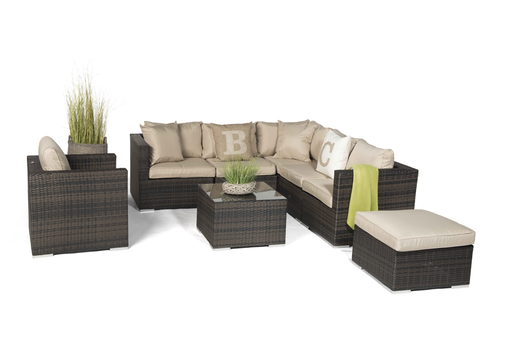 rattan loungem bel london braun hochwertiges gartenm bel set von hand geflochten. Black Bedroom Furniture Sets. Home Design Ideas