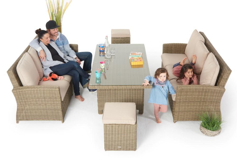 loungen und essen dieses rattan lounge dining set manila special bietet den perfekten komfort. Black Bedroom Furniture Sets. Home Design Ideas