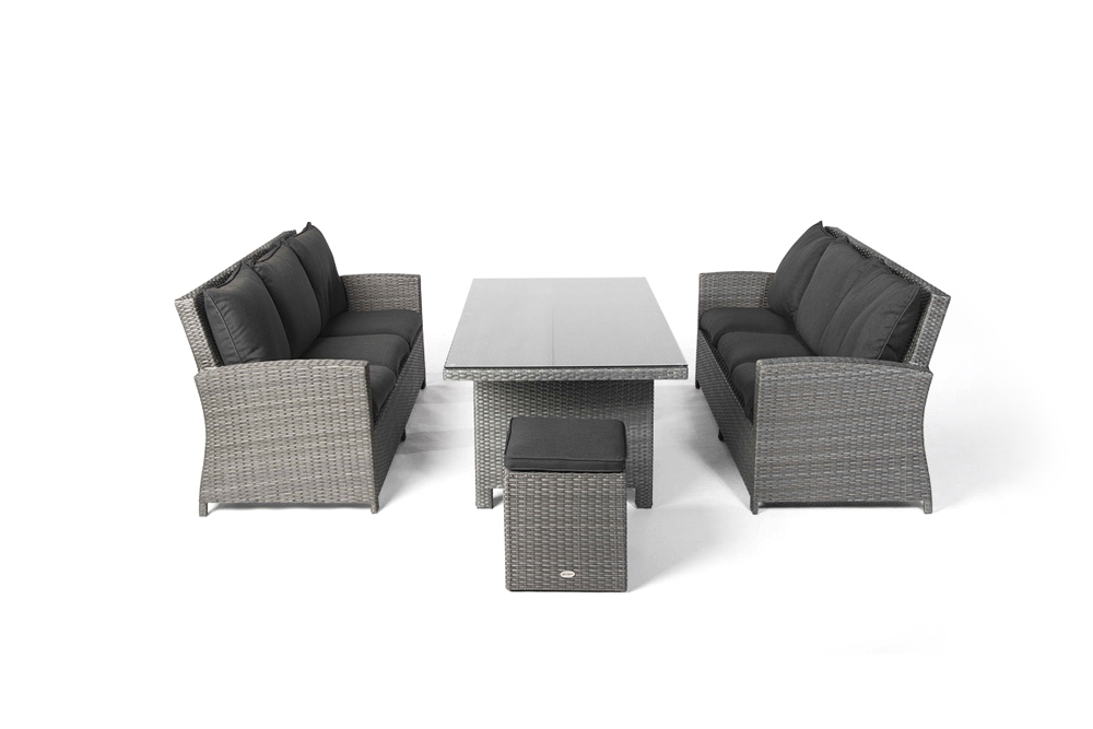 rattan tisch set lounge dining gartenm bel rattan gartenm bel kunststoffgeflecht manila mix. Black Bedroom Furniture Sets. Home Design Ideas