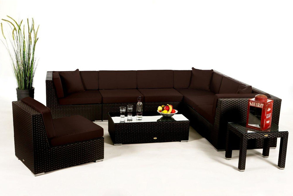 berz ge in verschiedenen farben f r die polster der rattan lounge panama. Black Bedroom Furniture Sets. Home Design Ideas