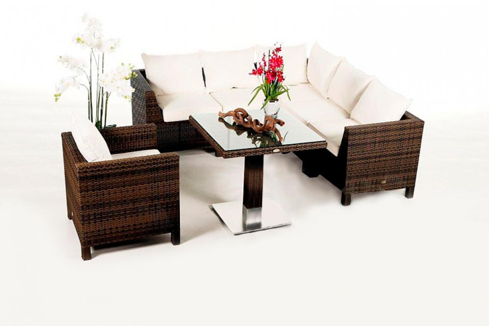 rattan lounge gartenm bel rattan gartenm bel kunststoffgeflecht gaia lounge mix braun. Black Bedroom Furniture Sets. Home Design Ideas