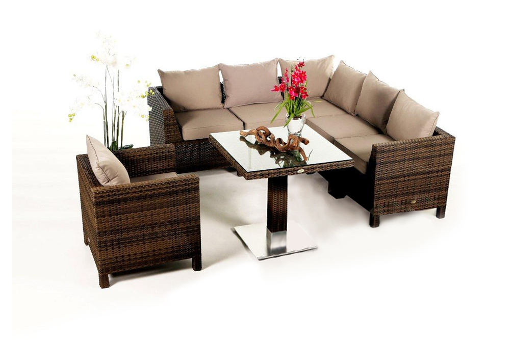 rattan lounge gartenm bel rattan gartenm bel kunststoffgeflecht gaia lounge mix braun. Black Bedroom Furniture Sets. Home Design Ideas