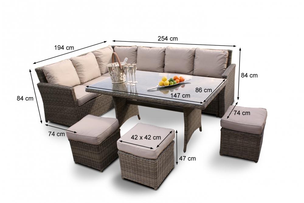 rattan gartenm bel rattan lounge gartentischset. Black Bedroom Furniture Sets. Home Design Ideas