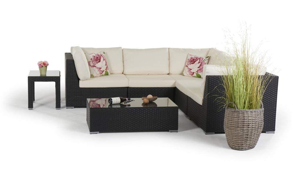rattan lounge palm beach gartenm bel polyrattan rattanm bel schwarz. Black Bedroom Furniture Sets. Home Design Ideas