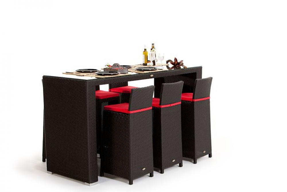 rattan bar set rouge sch ne rattan bar. Black Bedroom Furniture Sets. Home Design Ideas