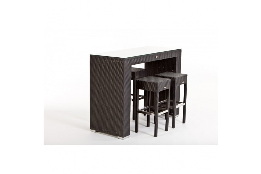 rattan bar comodo black gartenm bel rattan outdoor lounge rattan. Black Bedroom Furniture Sets. Home Design Ideas