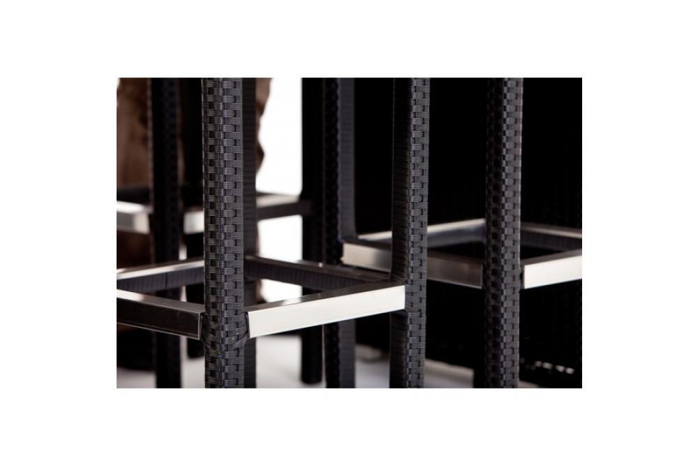 Atemberaubend rattan gartenm bel schwarz fotos die for Schrankwand ohne fernsehteil