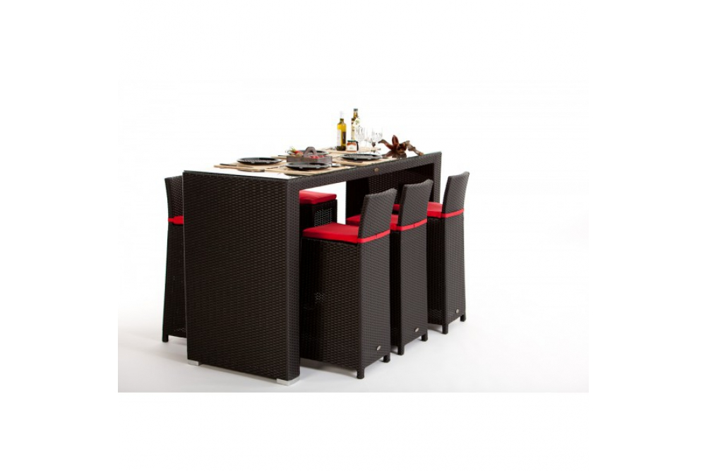 rattan bar set rouge sch ne rattan bar. Black Bedroom Furniture Sets. Home Design Ideas