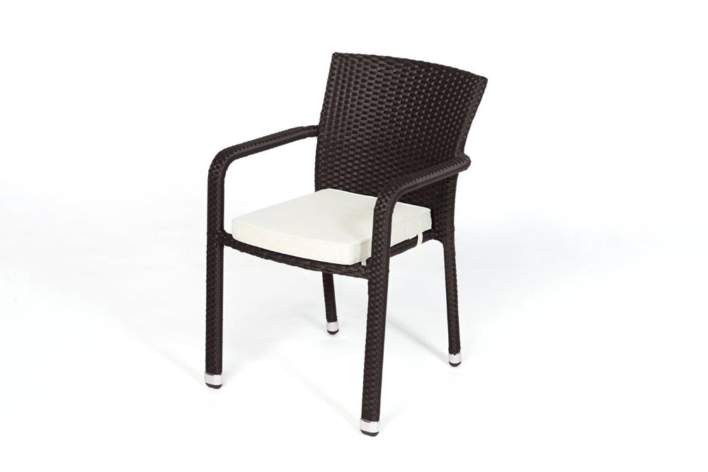 rattan tisch set 90cm florida dark brown. Black Bedroom Furniture Sets. Home Design Ideas