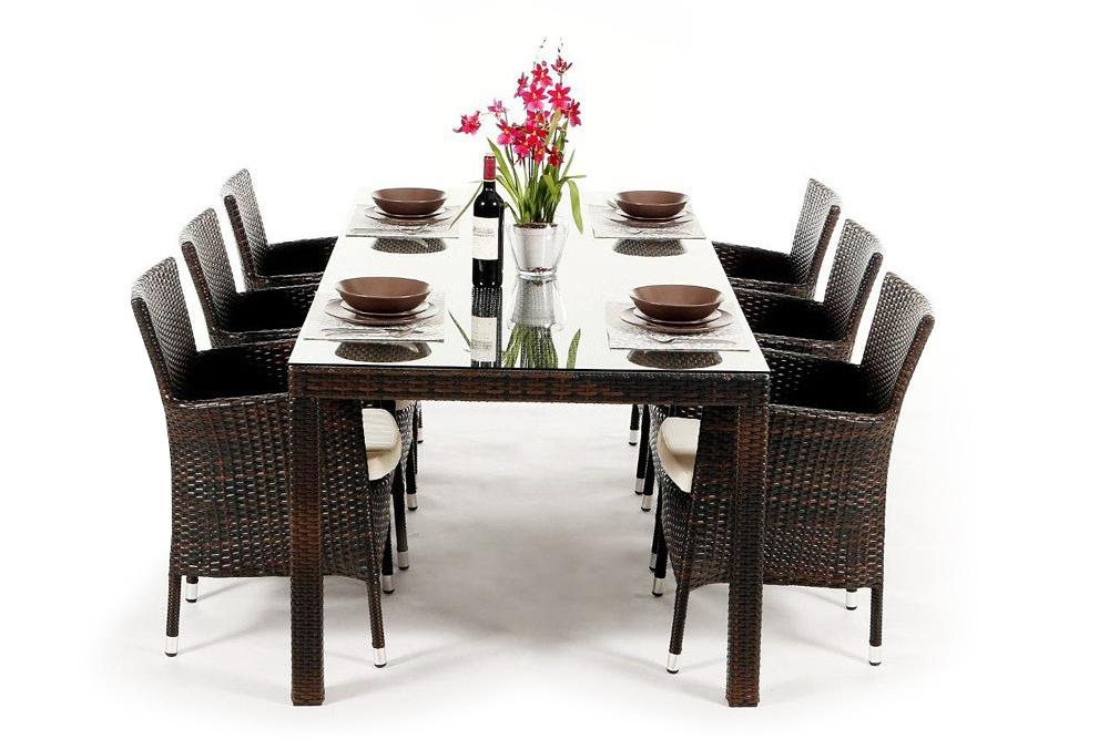 rattan lounge gartenm bel rattan gartenm bel kunststoffgeflecht orchid mixed brown. Black Bedroom Furniture Sets. Home Design Ideas