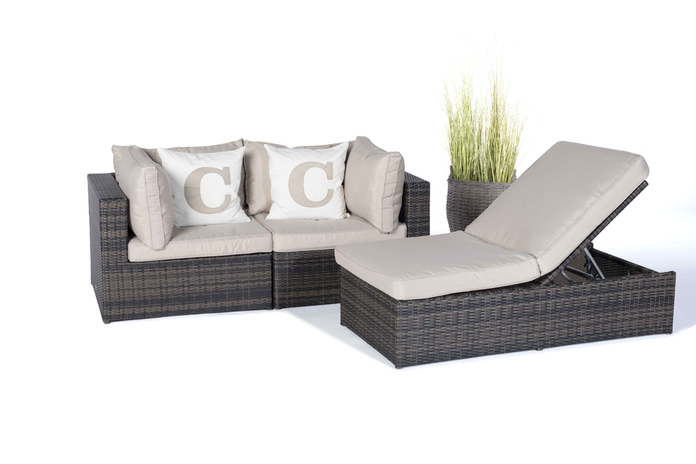rattan lounge santa cruz brown hochwertiges gartenlounge set mit viel gestaltungsfreiraum. Black Bedroom Furniture Sets. Home Design Ideas